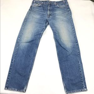 Levi's 501 Orange Tab Mom Jeans Hi Rise Straight